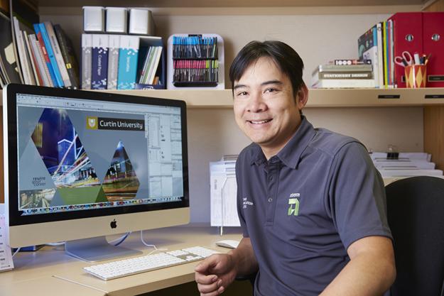 Advance Press staff member at Curtin office